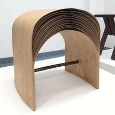 #hangzhou #stool #bamboo #verneer #chenmin #chinese #maxbill #design #rong #fuorisalone2017 #tortona #designbutik #ontheroadagain