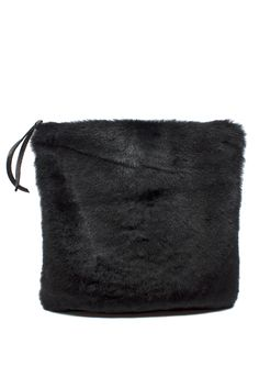 """The Primecut Foldover Clutch is the perfect size for a day in the city or a night out. Dimensions: Measures 13"""" x 13"""" unfolded Details: 100% Spanish goat hair exterior, lined with sturdy black canvas"""