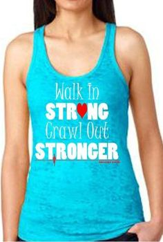 Strong Racer Back Tank Top Crossfit Inspired by ImagineThatEvents Crossfit Shirts, Crossfit Clothes, Gym Clothing, Crossfit Inspiration, Fitness Inspiration, Workout Inspiration, Workout Attire, Workout Wear, Sexy Workout Clothes