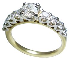diamond and gold ring by petersens