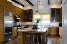 Big beautiful kitchen with a big island. Yes. Bill Musso design, house in Alys Beach