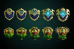 ArtStation - Game Icon - Evolution shields, Katrin Minko