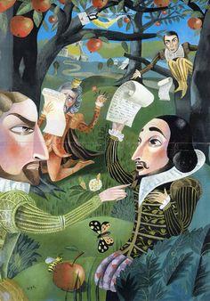 OLAF HAJEK ILLUSTRATION - Shakespeare book project