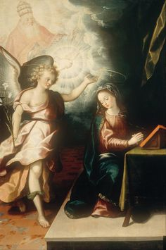 Juarez, Luis (1585c.-1639) - The Annunciation (National Museum of Art, Mexico City, Mexico)  Oil on wood; 123.5 x 84.5 cm.