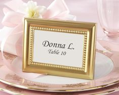 Gold Photo Frame - Gold Place Card Holder - Gold-themed Wedding Decorations - Kate Aspen