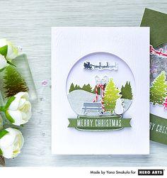Merry Christmas Card by Yana Smakula for Hero Arts