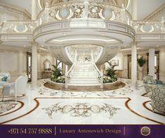 Dubai Interior Design Gallery by Luxury Antonovich Design Mansion Interior, Luxury Homes Interior, Luxury Home Decor, Classic House Design, Design Your Dream House, Classic Style, Interior Design Gallery, Home Interior Design, Plafond Design