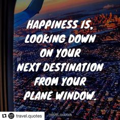 We can totally relate to that happiness and excitement! @travel.quotes #travel #quotes #travelquotes #wanderlust #instadaily #instagood #traveladdict #life #beauty #plane #inspiration #happiness #destination #wheretonext #gourmettrails