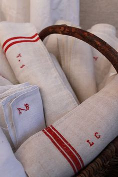 linen- light, for humid climate, summer, shrinks Ticking Fabric, Linen Fabric, Cotton Linen, Cottage Chic, Jute, Shabby, Grain Sack, Linens And Lace, Textile Fabrics