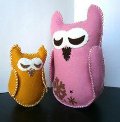 Felt Owls   <3