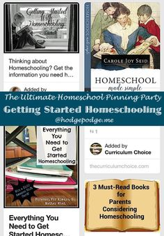 Getting Started Homeschooling at The Ulimate Homeschool Pinning Party