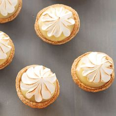 Sweeten up your spring or summer celebration with these Mini Lemon Tartlets. Made using store-bought Mini Lemon Tarts, Lemon Tartlets, Raspberry Tarts, Lemon Dessert Recipes, Tart Recipes, Dinner Recipes, Cooking Recipes, Snacks Recipes, Fruit Recipes