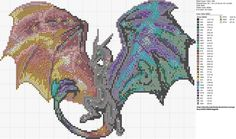 Pattern I made based on a sprite of Gildiss, the King of Dragons. Feel free to use it! I will use it again too Finished work here : Dragon head x-stitch pattern Dragon Cross Stitch, Fantasy Cross Stitch, Dragon Pattern, Cat Pattern, Cross Stitch Designs, Cross Stitch Patterns, Bead Patterns, Cross Stitching, Cross Stitch Embroidery