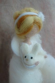 Needle felted winter fairy Wool fairy Needle by MeseemsDolls