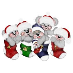 Teddy Creddy Xmas 1 - Disney And Cartoon Christmas Clip Art Images
