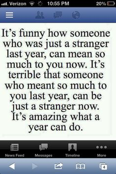 A year can do....