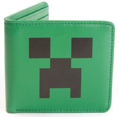Jinx Mens Minecraft Creeper Face Wallet @ niftywarehouse.com #NiftyWarehouse #Minecraft #Geek #Gaming #VideoGames