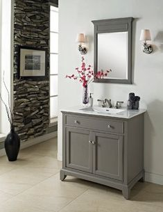 "Vanities Bathroom Grey fairmont designs 42"" smithfield vanity - medium gray 