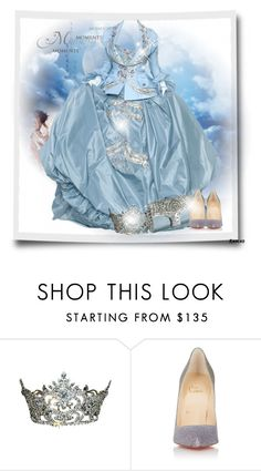 """""""Blue Gown"""" by cavell ❤ liked on Polyvore featuring Christian Louboutin"""