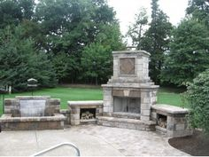 Outdoor Fireplaces Columbus - Cleveland Ohio | Outback Landscaping Medina Ohio - Outback Landscaping Landscape and Irrigation