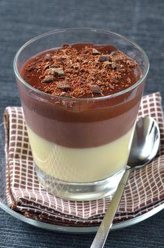 Receita de Chocolate Triple. Uma sobremesa que agrada a todos. Bem fácil de fazer! Experimente!