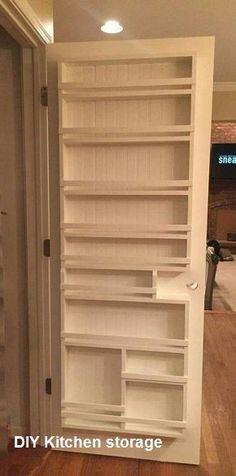 Kitchen Pantry Design, Diy Kitchen Storage, Pantry Storage, Closet Storage, Bedroom Storage, New Kitchen, Storage Containers, Kitchen Pantries, Kitchen Small