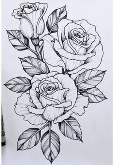 Should add this piece to my skull n rose tattoo .-Sollte dieses Stück zu meinem Schädel n Rose Tattoo hinzufügen … Tatowierung – flower tattoos designs This piece should go with my skull n rose tattoo add tattoo - Tattoo Design Drawings, Flower Tattoo Designs, Art Drawings, Tattoo Flowers, Rose Drawing Tattoo, Rose Drawings, Daisies Tattoo, Tattoo Roses, Flower Tattoo Drawings