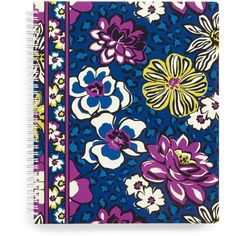 Vera Bradley Notebook with Pocket in African Violet ($14) ❤ liked on Polyvore featuring home, home decor, stationery, african violet, accessories and paper and gifts