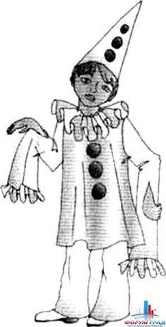 Грустный Пьеро - Маскарадные костюмы сказочных людей – здесь может быть масса различных идей - Форум-Град