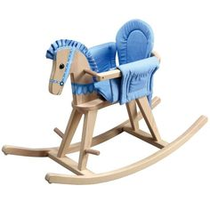 Teamson Kids Blue Convertible Rocking Horse (Natural Convertible Rocking Horse)