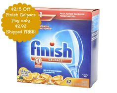 32-ct Finish Gelpacs Dishwasher Detergent $2.92   tax, Shipped FREE on http://www.moneysavingmadness.com