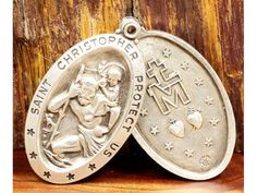 Saint Christopher Protect Us Vintage Religious by CherishedSaints