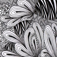 Zentangle by louvebleue on Flickr - copyright protected #doodles #tangles #zentangles #art