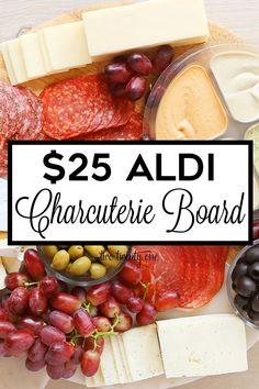 Budget-friendly $25 Aldi charcuterie board! #aldi #charcuterie #board