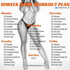 This mini workout plan for both men and women can help you lose weight and gain muscle mass. What is best about it is that it can be done in the commodity of your home and you do not need to visit the gym nor use any special equipment.