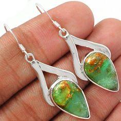 Boulder Chrysoprase 925 Sterling Silver Earrings Jewelry SSS BCPE180