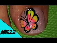 Toe Nail Art, Toe Nails, Pedicure Nails, Manicure, Merry Christmas Gif, Butterfly Makeup, Nail Effects, Butterfly Decorations, Nail Designs