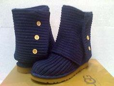 Navy Blue Knit Uggs