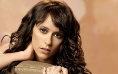 Jennifer Love Hewitt Brunette Face Eyes Hair HD Wallpaper Widescreen
