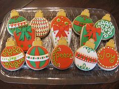 The Chic Cookie assortment of ornament cookies!!! Bebe'!!! What a selection of cookies!!!