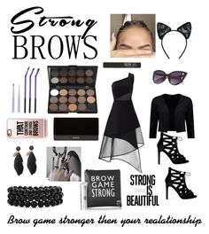 """""""Be Bold Be Beautiful"""" by but-darling-we-are-all-insane on Polyvore featuring beauty, David Koma, Boohoo, Balmain, Maison Close, Bling Jewelry, Topshop, Casetify, BeautyTrend and strongbrows"""