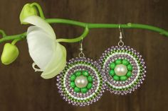 Violets Green Earrings (see on Facebook AndyBori or contact me: andybori@seznam.cz)
