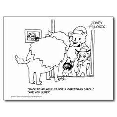 Covey Logic Christmas Caroling Postcard