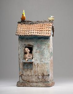 Lot: 73: Masterworks: Peter VandenBerge Shubirds Song House, Lot Number: 0073, Starting Bid: $750, Auctioneer: Cowan's Auctions, Inc., Auction: Modern and Contemporary Ceramics, Date: June 4th, 2011 GMT