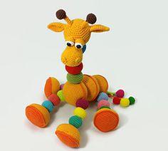 2000 Free Amigurumi Patterns: Amalka Giraffe Toys Patterns dutch Amalka Giraffe pattern by Hippe Haaksels and Hana Prokopy Giraffe Stuffed Animal, Giraffe Toy, Giraffe Nursery, Stuffed Animal Patterns, Stuffed Animals, Crochet Giraffe Pattern, Crochet Patterns Amigurumi, Crochet Toys, Cute Crochet