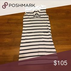 Kate Spade White and Blue Striped Shift Dress Worn only a few times. In great condition. kate spade Dresses