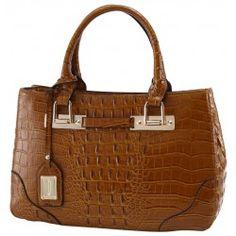 Almond Croco Handbag