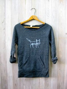 clever me Fox sweatshirt Fox Sweater Yoga by nicandthenewfie, $36.00
