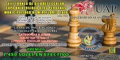 """XIII TORNEO DE AJEDREZ ESCOLAR """"COPA UNIVERSIDAD ALAS PERUANAS-MUNICIPALIDAD DE MIRAFLORES"""" 2016 - Torre 64"""