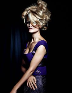 Carolyn Murphy by Tiziano Magni for Numéro China September 2012. I like doing my hair like this when I'm in a hurry...